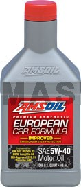 AMSOIL European Car Formula 5W-40 Improved ESP Синтетично моторно масло (946мл./1 кварта)