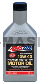 AMSOIL Premium Protection 10W-40 Synthetic Motor Oil 100% синтетично моторно масло (946мл./1 кварта)
