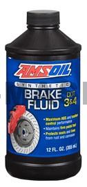 AMSOIL DOT 3 and DOT 4 Synthetic Brake Fluid (12унции/355мл.)