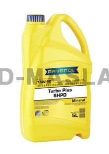 RAVENOL Turbo plus SHPD 15W-40 моторно масло (5 Литрa)