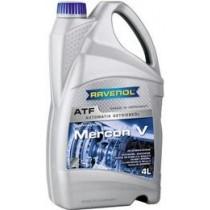 RAVENOL MERCON V GM: Dexron DIII;Полусинтетична хидравлична трансмисионна течност (4 Литрa)
