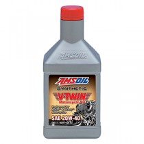 AMSOIL 20W-40 Synthetic V-Twin Motorcycle Oil (946мл./1 кварта)