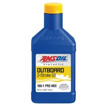 AMSOIL Outboard 100:1 Pre-Mix Synthetic 2-Stroke Oil (946мл./1 кварта)